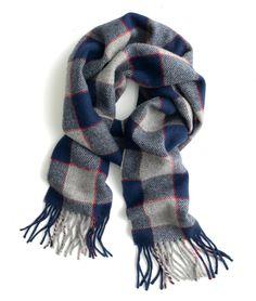 plaid wool muffler~