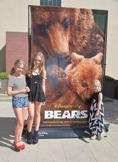 """Disneynature """"Bears"""" Special Screening At The Walt Disney Studios Main Theatre  In This Photo: Emily Alyn Lind, Natalie Alyn Lind, Alyvia Alyn Lind"""