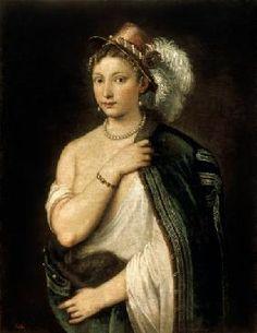 Le Titien (alias Tiziano Vercellio) - Female Portrait