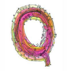 Whimsical letter Q