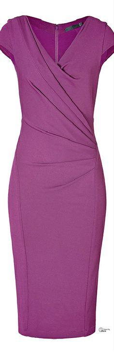 Donna Karan ● Purple Draped Dress