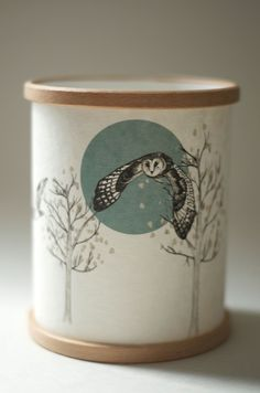 """A Northern Light """"Flying Owl"""" Candle Cover – Podarok"""