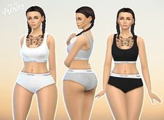 Sims 4 / female / teen to elder / 3 colors Calvin Klein separates. Available in everyday and sleepwear. DOWNLOAD
