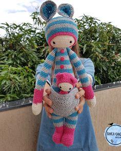 """152 curtidas, 8 comentários - Chica Chique (@chica.chique_) no Instagram: """"De pijaminha...😍 . . #crochet #croche #handmade #feitoamao #amigurumi #yarnlove #crochetlove…"""""""