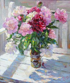 http://www.russianfineart.com/catalog/prod?productid=26793 Peonies - oil canvas  Russian Artist: Lobov Anton