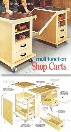 Multifunction Workshop Carts Plans - Workshop Solutions Projects, Tips and Tricks | WoodArchivist.com