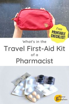 DIY Travel First Aid Kit: advice from a pharmacist. Safety first, right? As a travelling pharmacist, I never go out without a good first aid kit and honestly, neither should you! So here's my printable checklist to help you pack your mini DIY kit and stay Packing Tips For Travel, Travel Essentials, Packing Lists, Travel Hacks, Travel Guides, Travel Advice, Diy First Aid Kit, First Aid Kit Travel, Small Case