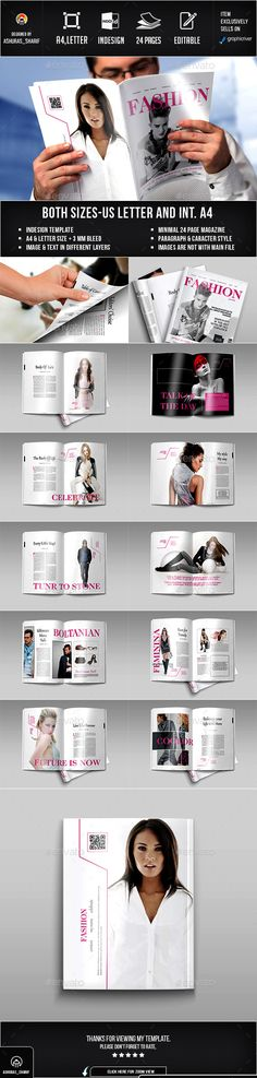 Magazine by ashuras_sharif This Fashion Magazine are 24 unique page layout with Two Different Size and Letter. Suitable for Magazine or Fashion portfolio, Cool Magazine, Print Magazine, Print Design, Graphic Design, Design Web, Catalogue Layout, Illustration Sketches, Illustrations, Change Image