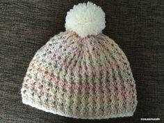 【編み図付き】引き上げ編みのニット帽 | かぎ針編み・無料編み図 ATELIER *mati*                                                                                                                                                                                 もっと見る