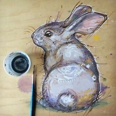Fay Helfer | Lil distraction doodle dude #pyrography...