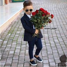 roses are bloom for the little boy with a formal outfit Little Boy Outfits, Little Boy Fashion, Kids Fashion Boy, Toddler Boy Outfits, Toddler Fashion, Cute Baby Boy, Baby Kind, Baby Boys, Cute Kids