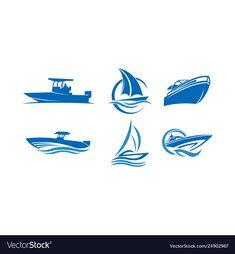 Sailing boat ship vector image on VectorStock Boat Vector, Ship Vector, Henna Moon, Logo Ig, Virgo Birthday, Sea Logo, Water Logo, Lake Photos, Sailing Boat