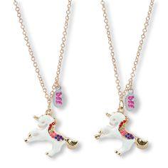 BFF unicorn necklace set