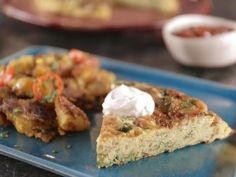 Persian Baked Omelette Recipe from Food Network Bobby Flay Baked Omelette, Omelette Recipe, Quiches, Omelettes, Roasted Apples, Food Network Canada, Brunch Recipes, Breakfast Recipes, Breakfast Ideas