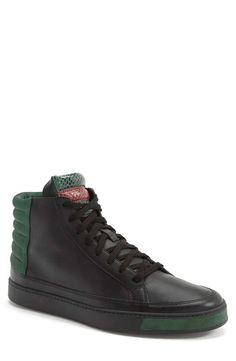 Gucci   'Common' High-Top Sneaker (Men) #Gucci #hightop #sneakers