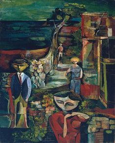 John Minton 'Children by the Sea', 1945 © The estate of John Minton John Minton, History Of Illustration, Mark Gatiss, Royal College Of Art, Art Uk, French Artists, British Artists, Art History, Oil On Canvas