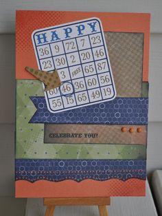 Masculine CTMH Birthday Card using Lucky