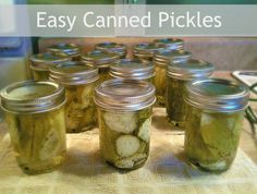 Easy Canned Pickles | Romance on a Dime