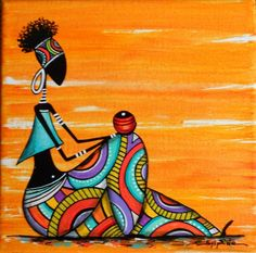 """Rast & # seated"" colorful painting – About Hair Pop Art, African American Artwork, African Art Paintings, African Drawings, Afrique Art, Art Populaire, Art Premier, Afro Art, Tribal Art"