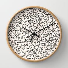 A Lot of Cats Wall Clock. Make this for zach at our next place so we can see the time in the morning and get a smile out of it.