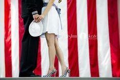 Engagement portraits  |  Military  |  Navy  |  American flag  |  Patriotic photos  |  Aislinn Kate Photography  |  Pensacola Photographer