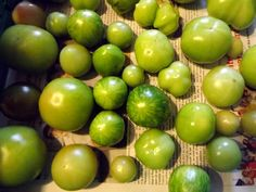 Que faire des tomates vertes?