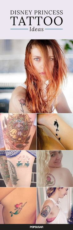 30 Disney princess tattoos that will inspire you to take another trip to Disneyland.