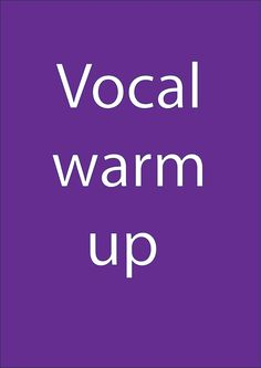 Quick voice warm up - for public speaking Voice Warm Ups, Vocal Exercises, Public Speaking, Live Events, Something To Do, The Voice, Presentation, Teaching, Music Class