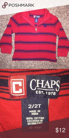 Boys 2T Chaps sweater Perfect condition.  Only worn a couple of times.  No rips or stains.  Pet and smoke free home. Chaps Shirts & Tops Sweaters