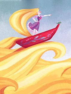 'Rapunzel's Amazing Hair' storybook illustrated by Claire Keane