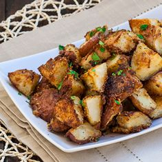 Italian Parmesan Roasted Potatoes - full of flavor and deliciousness, all you have to do is enjoy them.