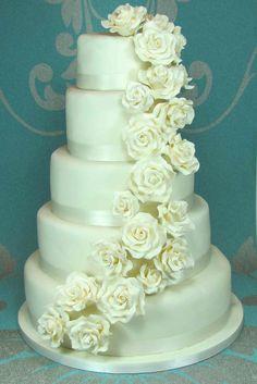 tortas de matrimonio con flores naturales - Buscar con Google