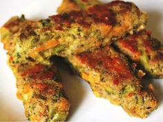 Cheesy Vegetable Nuggets - Month Baby Food Recipe at Cleanbabyfood can help your baby be happy with awesome baby food recipes you can make at home! Baby Food Recipes, Low Carb Recipes, Diet Recipes, Vegetarian Recipes, Healthy Recipes, Healthy Food, Baby Broccoli Recipe, Broccoli Recipes, Tandoori Chicken