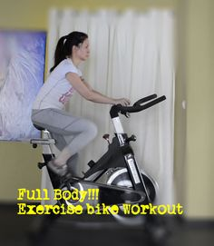 Spinning stationary bike workout routine + body weight exercises for full body workout! *not immediately, but hoping to work my way towards it. maybe in the new year. Best Exercise Bike, Spin Bike Workouts, Full Body Workout Routine, Thigh Exercises, I Work Out, Fitness Nutrition, Body Weight, Fitness Inspiration, Spinning
