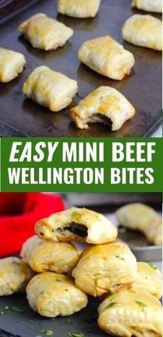 Shrimp with tempura - Clean Eating Snacks Beef Appetizers, Puff Pastry Appetizers, Healthy Appetizers, Appetizers For Party, Appetizer Recipes, Mini Beef Wellington, Wellington Food, Fall Recipes, Beef Recipes