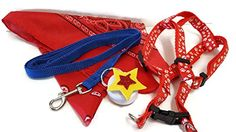 """All American Dog! Size Large (18-24"""" Chest) Fourth of July Gear Bundle - 4 Items: One 2 Piece Red White and Blue Harness and Leash Set, One Matching All American Bandana Neckerchief, One Multi-color Flashing Harness Light with Star Decor Varied http://www.amazon.com/dp/B00XWCF8JG/ref=cm_sw_r_pi_dp_2zeGvb07E0M21"""