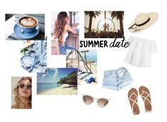 """Beach"" by lucykeys ❤ liked on Polyvore featuring Été Swim, Madewell, Billabong, Betsey Johnson, Gucci, Summer, shorts, sandals, beach and sunglasses"