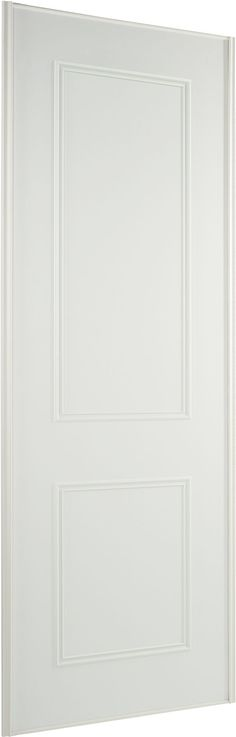 Contemporary White Wood Effect Sliding Wardrobe Door (H)2220 mm (W)914 mm | Departments | DIY at B&Q