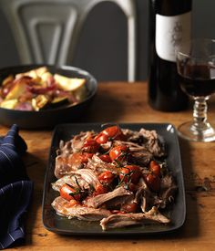 Slow-cooked lamb shoulder with roast vegetables - from @Teresa Selberg Selberg Layne Traveller