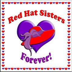 Red Hat Sisters Forever Sticker