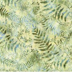 Hoffman Catepillar Green Hand Dyed Batik Fabric S2313  #batik #batikfabric #quiltingfabric Great Backgrounds, Bee Happy, Quilt Top, Caterpillar, Ferns, Cool Cats, Vines, Bali, Quilts