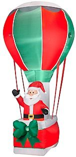 santa in balloon inflatable christmas decoration fly away with kmart inflatable christmas decorations pinterest inflatable christmas decorations