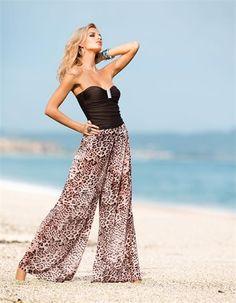 Luftig-leicht in den Sommer starten mit dieser Animal-Print Strandhose