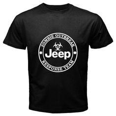 New Jeep Zombie Response Team Logo Off Road 4 x 4 Men's Black T Shirt Size s 3XL | eBay