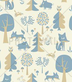 Forest - Blue - Wall Mural & Photo Wallpaper - Photowall