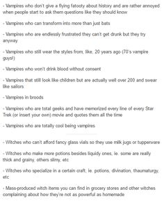 Vampires and witches