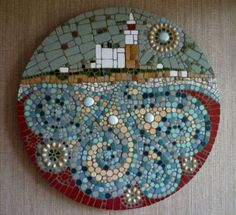 Very talented mosaic artist, Julie Smith, Amble Northumberland. This is Coquet Island off the Northumberland coast - stunning work!