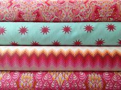 Fox Field Tula Pink Fat Quarter Bundle Free Spirit Fabric