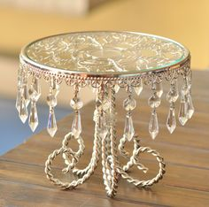 pan factory on sale at reasonable prices, buy Diamond glass mirror European metal plated silver Afternoon Tea Cake Stand Dessert plate Fruit plate Wedding Cake pan from mobile site on Aliexpress Now! Cake Stand With Dome, Cake And Cupcake Stand, Cake Stands, Hanging Crystals, Diy Crystals, Lantern Centerpiece Wedding, Wedding Lanterns, Dessert Aux Fruits, Fruit Plate