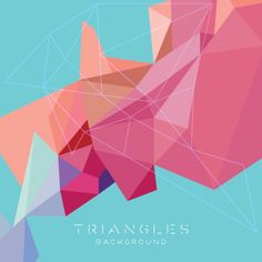Abstract triangles background modern design